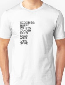 The Scoobies (dark type) Unisex T-Shirt