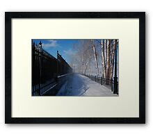 Closed For The Winter Framed Print
