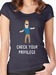 Check Your Privilege Women's Fitted Scoop T-Shirt