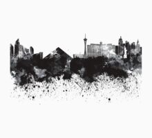 Las Vegas skyline in black watercolor Baby Tee