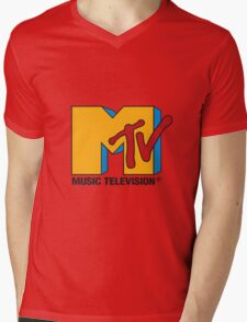MTV Mens V-Neck T-Shirt
