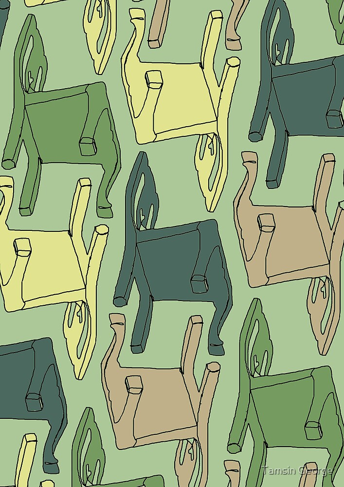 Hello chairs by Tamsin George