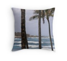 Tall Palms Throw Pillow