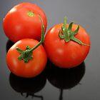 Three Tomatoes by aussiebushstick