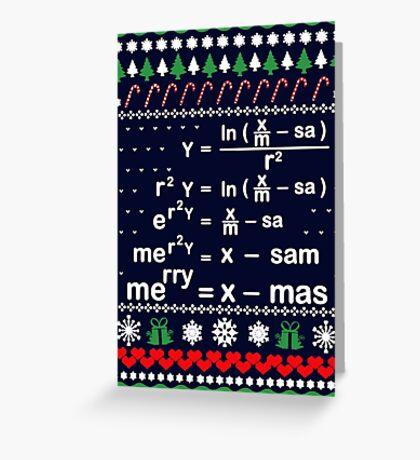 MATH CHRISTMAS Greeting Card