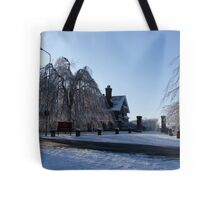 Dinefwr Park-The Lodge in snow-01 Tote Bag