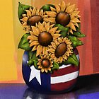 Americana Sunflowers by Cherie Balowski