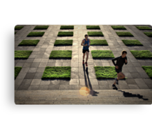 The Runners - Colour Version Canvas Print