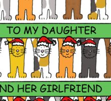 Happy Christmas to daughter and her girlfriend. Sticker