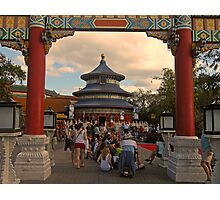 China Pavillion (Epcot) Photographic Print
