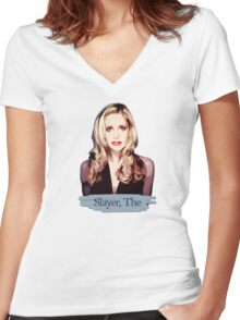 Buffy: Slayer, The Women's Fitted V-Neck T-Shirt