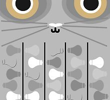 Cat Poster - Grey by Tamsin George