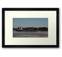 Shipping news Framed Print