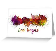 Las Vegas skyline in watercolor Greeting Card