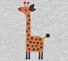Peach Giraffe Kids Tee