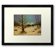 Moonlighting Eagle Framed Print