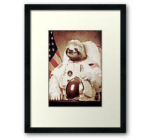 Astronaut Sloth Framed Print