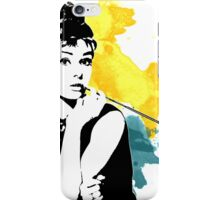 Audrey splash iPhone Case/Skin