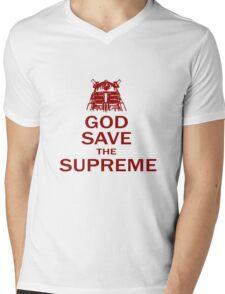 GOD SAVE THE SUPREME Mens V-Neck T-Shirt