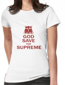 GOD SAVE THE SUPREME Womens Fitted T-Shirt
