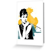 Audrey splash Greeting Card