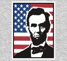 PRES. ABRAHAM LINCOLN (OLD GLORY) by OTIS PORRITT