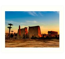 Luxor Temple - Ancient Egyptian Ruins Art Print