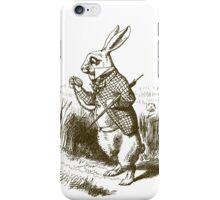 Alice in Wonderland White Rabbit iPhone Case/Skin
