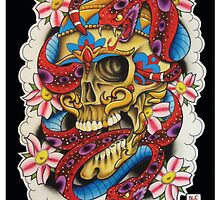 Skull and Snakes by MikeFrench