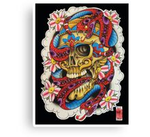 Skull and Snakes Canvas Print
