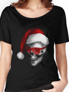 Santa Skull Women's Relaxed Fit T-Shirt