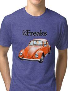 Das VW-Freaks Orange Beetle (No BG) Tri-blend T-Shirt
