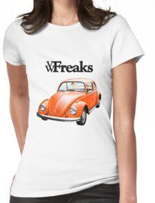 Das VW-Freaks Orange Beetle (No BG) Womens Fitted T-Shirt