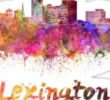 Lexington skyline in watercolor Sticker
