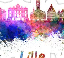 Lille skyline in watercolor Sticker