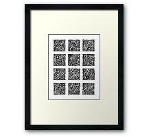 Doodle Dozen Framed Print