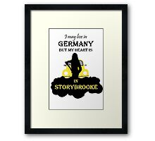 I may live in Germany... Framed Print