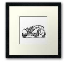 retro auto car Framed Print