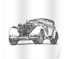 retro auto car Poster