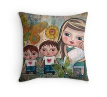 Katherine and her boys Throw Pillow