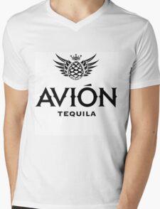 AVION TEQUILA Mens V-Neck T-Shirt