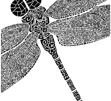 Dragon Fly Doodled by artbybrad