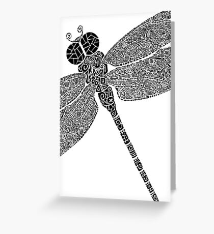 Dragon Fly Doodled Greeting Card