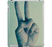 a sign of peace iPad Case/Skin