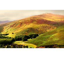 Find the Soul. Golden Hills of Wicklow. Ireland Photographic Print