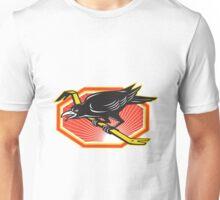 Crow Perching on Crowbar Retro Unisex T-Shirt