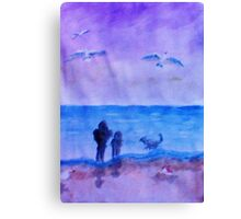 The guys having Quality time together, watercolor Canvas Print
