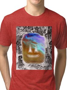 Sunset Face Tri-blend T-Shirt