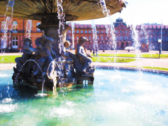 Stuttgarter Schloß Fountain by vivendulies