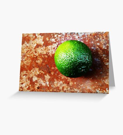Lime on Iron VRS2 Greeting Card